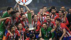 Fernando Torres y Gabi levantaron el título de la Europa League juntos. (Getty)