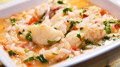 Receta de arroz con bacalao y alcachofa fácil de preparar