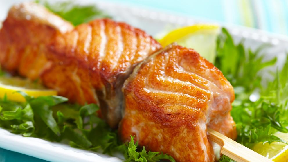 Receta de Brochetas de salmón fáciles de preparar
