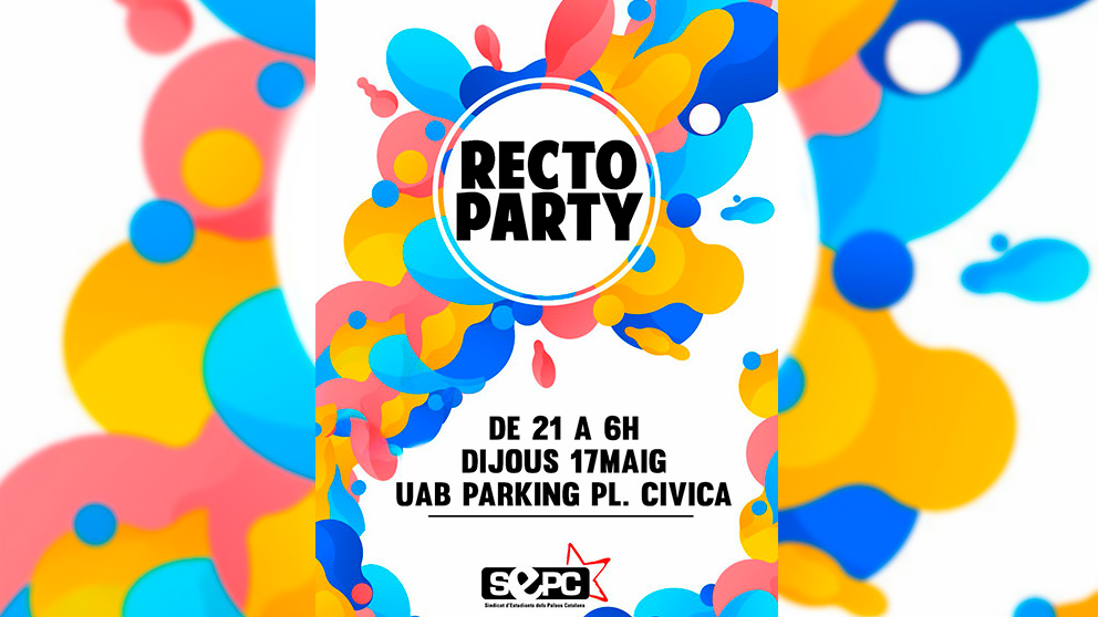 Cartel de la fiesta en la UAB organizada por el Sindicato de Estudiantes de los Países Catalanes
