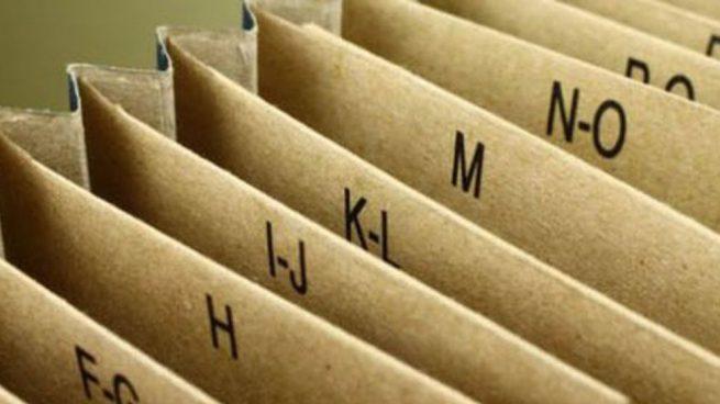 archivador cartón
