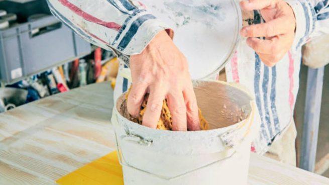 pintar con esponja