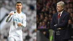 Cristiano Ronaldo y Arsene Wenger.