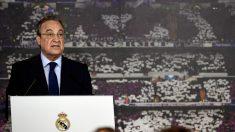 Florentino Pérez, en un acto del Real Madrid. (AFP)