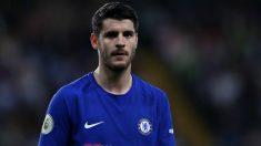 Álvaro Morata durante el último partido de Liga con el Chelsea. (Getty Images)