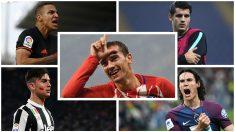 Los posibles sucesores de Griezmann en el Atlético. (Fotos: AFP)
