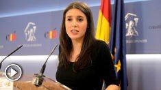 Irene Montero portavoz de Podemos