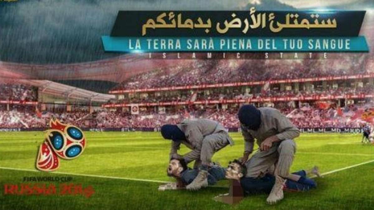 El ISIS publica un cartel en el que aparece la ejecución de Cristiano Ronaldo y Messi durante la disputa del Mundial.