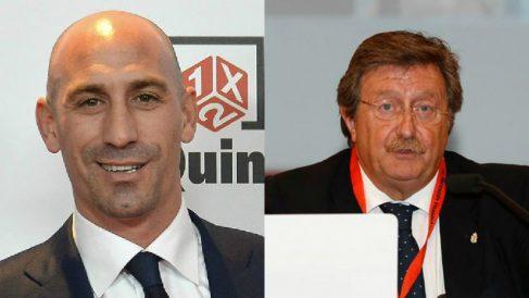 Luis Rubiales y Juan Luis Larrea, candidatos a la presidencia de la RFEF.