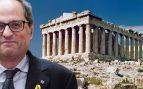 Torra pretende enseñar en las escuelas que la Acrópolis de Atenas fue catalana durante 80 años
