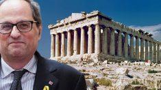 Quim Torra dice que la Acrópolis fue catalana durante 80 años