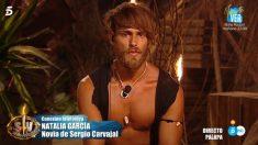 Sergio se emociona en 'Supervivientes 2018' al escuchar la voz de su novia