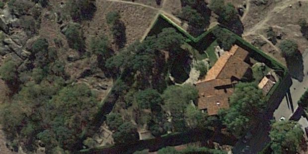 Vista aérea de la parcela de Pablo Iglesias en Galapagar. Foto: Google Earth