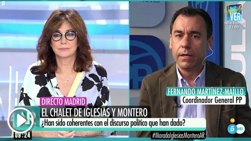 Fernando Martínez-Maillo en 'El programa de Ana Rosa'.