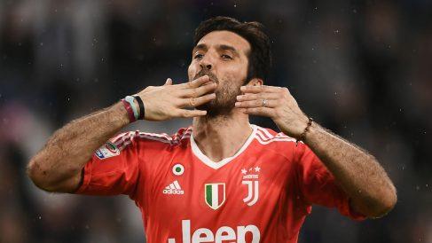 Buffon durante un partido con la Juventus. (AFP)