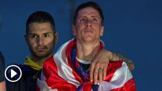 Fernando Torres se emocionó en Neptuno. (EFE)