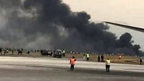 Accidente de avión en La Habana.