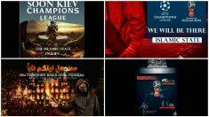 Los cuatro carteles del ISIS en los que amenaza también la final de la Champions. (Twitter)