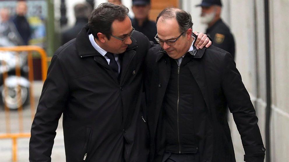 Josep Rull y Jordi Turull, camino del Tribunal Supremo.
