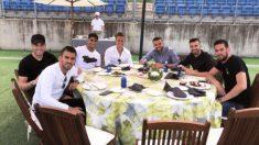 La barbacoa del Real Madrid antes de la final de Champions en Kiev. (Instagram)