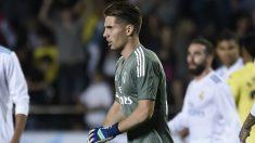 Luca Zidane, durante el partido ante el Villarreal. (AFP)