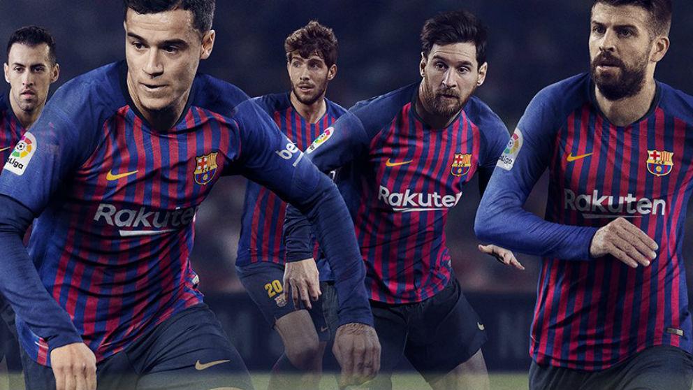 El Barcelona presentó su nueva camiseta con Coutinho como una de sus imágenes principales.