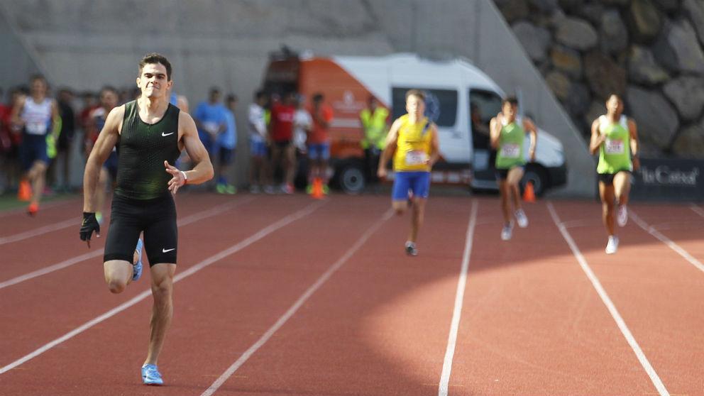 Bruno Hortelano, durante su primera carrera tras 21 meses lesionado. (EFE)