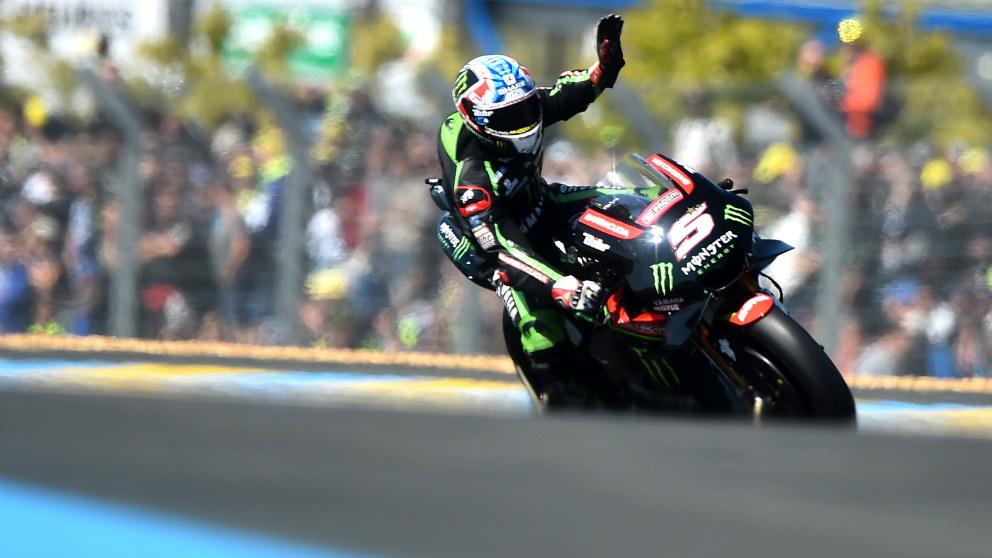 Johann Zarco logra la pole en el GP de Francia de MotoGP en el circuito de Le Mans. (AFP)