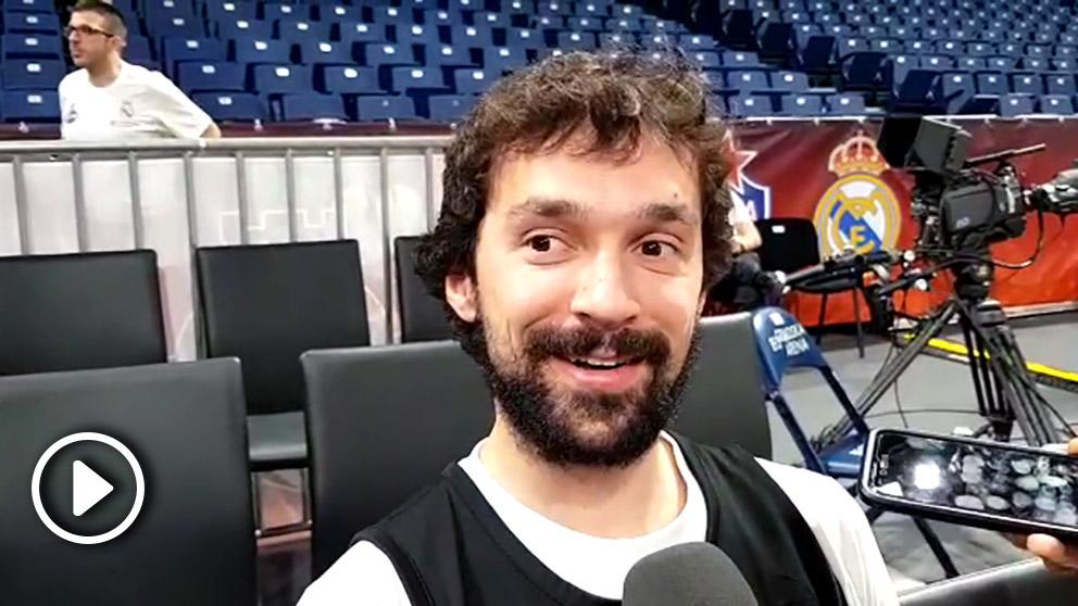 Sergio Llull atendió a OKDIARIO en el Stark Arena de Belgrado.
