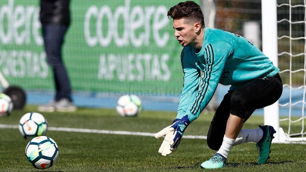 Luca Zidane durante un entrenamiento. (Realmadrid.com)