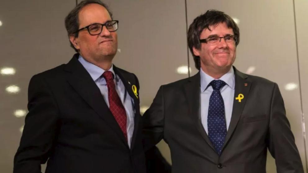 Quim Torra y Carles Puigdemont.