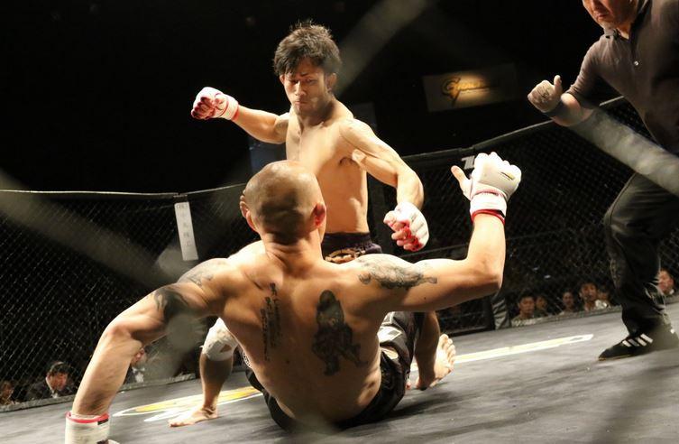 Combate de artes marciales mixtas.