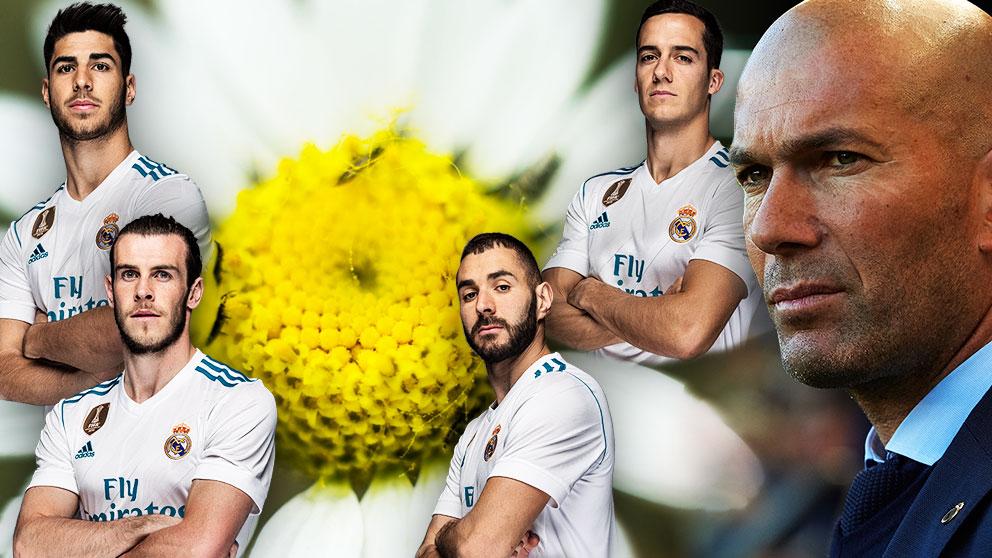 Zidane tiene a cuatro hombres para un puesto en la final de la Champions: Bale, Benzema, Lucas y Asensio.