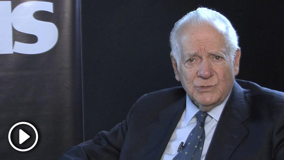 Eduardo Fernández, durante la entrevista con OKDIARIO en Caracas.