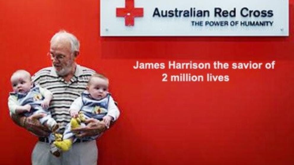 James Harrison, el hombre que ha salvado la vida a millones de bebés