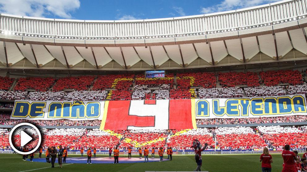 Mosaico del Metropolitano homenajeando a Fernando Torres en el Atlético – Eibar.