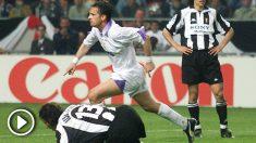 Mijatovic celebra el gol de la Séptima. (vídeo: Lydia Rodríguez)