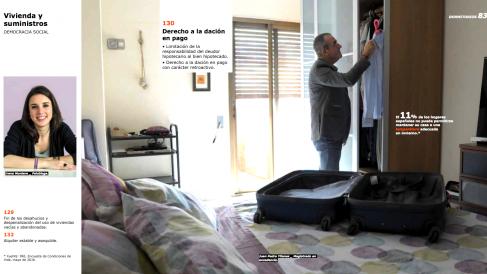 Irene Montero y el magistrado Juan Pedro Yllanes, en el catálogo de Ikea de Podemos.