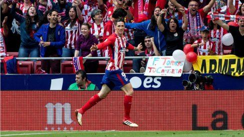 Fernando Torres celebra un gol con el Atlético de Madrid (EFE)
