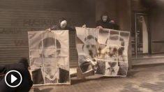 Arran quema fotos de Rajoy, Rivera y Sánchez