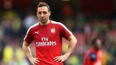 Santi Cazorla, durante un entrenamiento con el Arsenal. (Getty)