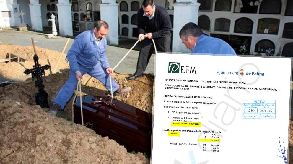 Los enterradores de Palma de Mallorca deberán hablar catalán