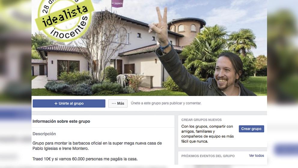 Facebook y la barbacoa en casa de Pablo Iglesias