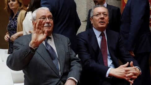 Joaquín Leguina y Alberto Ruiz-Gallardón, en una imagen de archivo. (Foto. EFE)