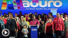 Nicolás Maduro tras su victoria en el pucherazo electoral del 20-M. (Foto: AFP)