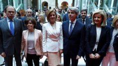 Pío García-Escudero, Soraya Sáenz de Santamaría, Dolores de Cospedal, Ángel Garrido y Fátima Báñez. (Foto. EFE)