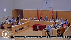 Pleno municipal del Ayuntamiento San Fernando de Henares (Madrid). 17-5-18.