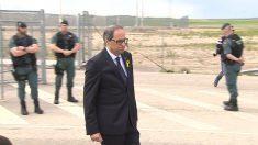 El president Quim Torra, a su salida de la cárcel de Estremera. (EP) | Moción de censura Rajoy