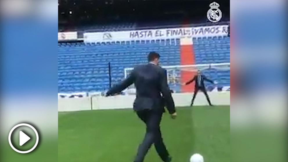 Felipe Reyes lanzó un penalti a las nubes en el Bernabéu.