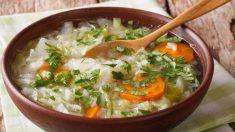 Receta de sopa de col china